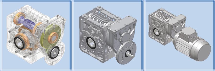 Reductoare cilindro-melcate SERIA P-MU